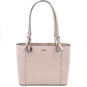 Calvin Klein Top Zip Tote Bag Purse Pink Logo